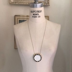 House of Harlow 1969 Star White Leather Necklace
